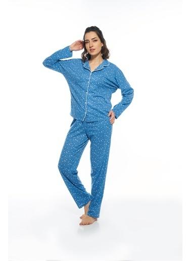 Estiva Pijama Takım Mavi